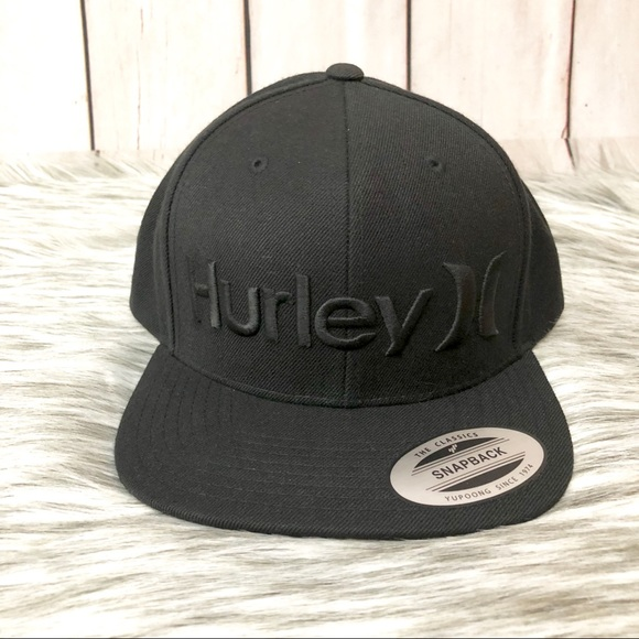 7fc13f280c903 Hurley One and Only Snap Hat - Black